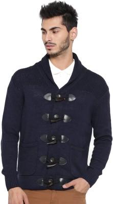 Mast & Harbour Solid Round Neck Round Neck Casual Men Dark Blue Sweater at flipkart