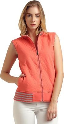 Moda Elementi Sleeveless Solid Women Sweatshirt
