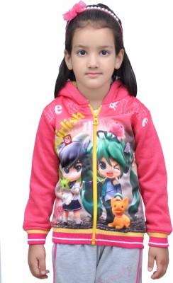 Shaun Full Sleeve Graphic Print Baby Girls Sweatshirt