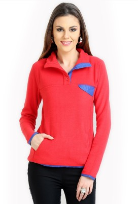 Moda Elementi Full Sleeve Solid Women Sweatshirt