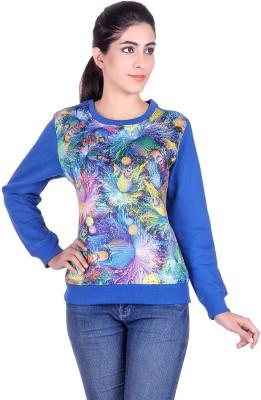 Kally Full Sleeve Self Design Women Sweatshirt Kally Women\'s Sweatshirts