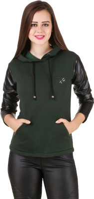 Texco Full Sleeve Solid Women Sweatshirt at flipkart
