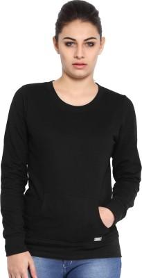 Espresso Full Sleeve Solid Women Sweatshirt at flipkart
