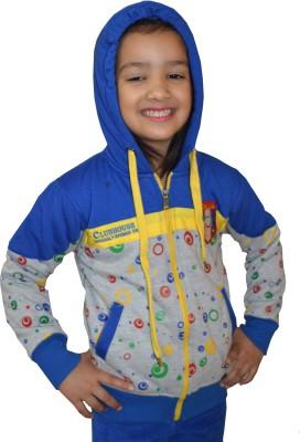 Shaun Full Sleeve Solid Baby Girls Sweatshirt