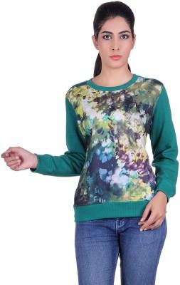 Kally Full Sleeve Self Design Women Sweatshirt Kally Women's Sweatshirts
