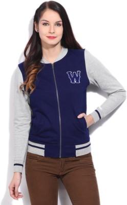 Wrangler Full Sleeve Solid Women Sweatshirt at flipkart
