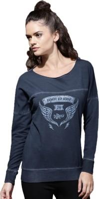 Roadster Full Sleeve Printed Women Sweatshirt at flipkart