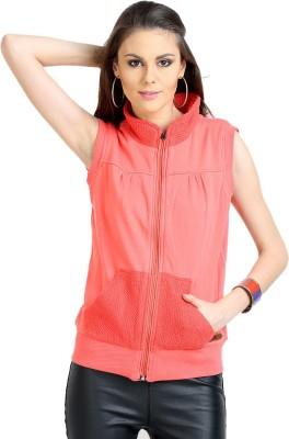 Moda Elementi Sleeveless Striped Women Reversible Sweatshirt