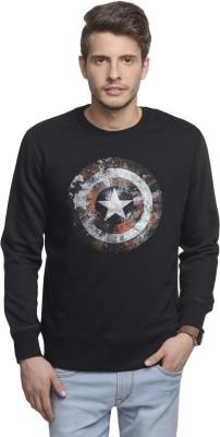 Captain America Full Sleeve Printed Men's Sweatshirt