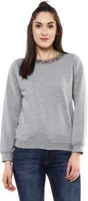 Sassafras Full Sleeve Solid Women Sweatshirt at flipkart