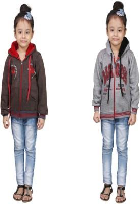 Crazeis Sleeveless Printed Girls Sweatshirt