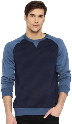 Mast & Harbour Full Sleeve Solid Men Sweatshirt at flipkart