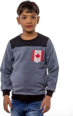 Bobjunior Full Sleeve Solid Boys Sweatshirt