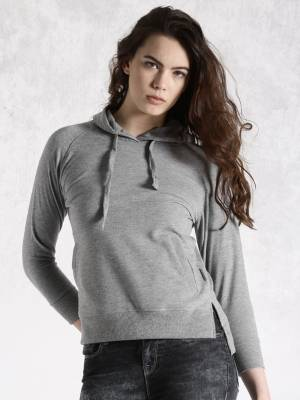 Roadster Full Sleeve Solid Women's Sweatshirt