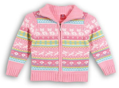 Lilliput Baby Girls Zipper Self Design Cardigan