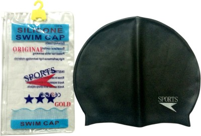 SPOFIT SPORTSC1001 Swimming Cap Black, Pack of 1