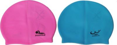 Sihra Super Stretch Swimming Cap Multicolor, Pack of 2