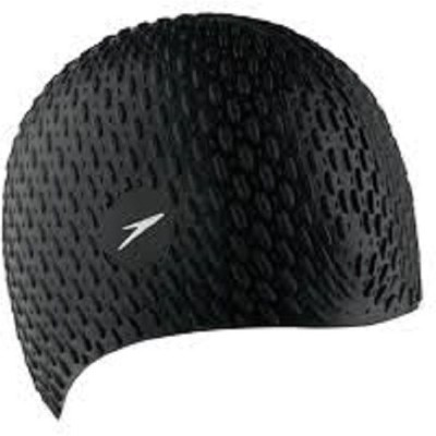 Nivia Best Quality Silicon bubble Swimming Cap(Black, Pack of 1)  available at flipkart for Rs.950