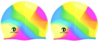 MK Shuosuyj Swimming Cap Multicolor, Pack of 2