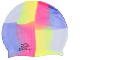W2W SILICONE SWIMMING CAP Swimming Cap Multicolor, Pack of 1