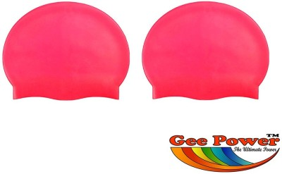 Gee Power Imported Swimming Cap Red, Pack of 2