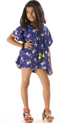 Fascinating Stunning Pom Printed Girls Swimsuit Fascinating Kids\' Swimsuits