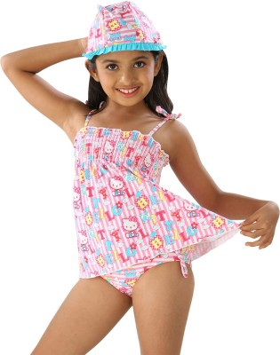 Fascinating Graphic Print Girls Swimsuit Fascinating Kids' Swimsuits