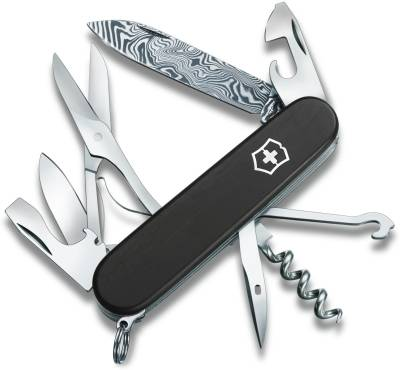 Victorinox-1.3701.J11-Climber-Damascus-12-Tool-Swiss-Knife