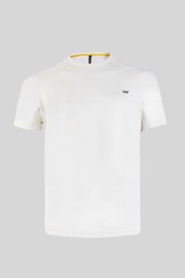 Wildcraft Solid Men Round Neck White T-Shirt at flipkart