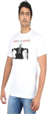 Mighty Mojo Graphic Print Men's Round Neck White T-Shirt