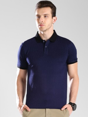 Invictus Printed Men Polo Neck Dark Blue T-Shirt at flipkart