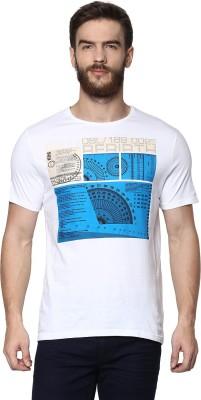 Celio Graphic Print Men's Round Neck White T-Shirt