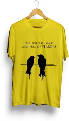 Teeforme Printed Men's Round Neck Yellow T-Shirt at flipkart