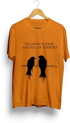 Teeforme Printed Men's Round Neck Orange T-Shirt