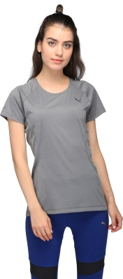 dc7ac1491aee Puma 51508001 Printed Womens Round Neck Multicolor T Shirt- Price in India