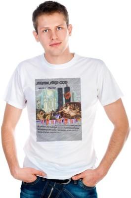 6th Cross Graphic Print Men Round Neck White T-Shirt at flipkart