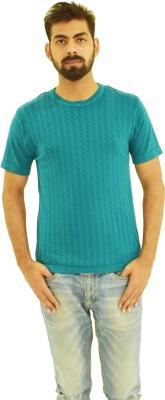 Oldberri Solid Men's Round Neck Blue T-Shirt