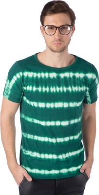 Rodid Solid Men Round or Crew Green T-Shirt at flipkart