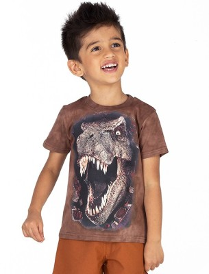 Ventra Boys Animal Print Cotton T Shirt(Brown, Pack of 1)
