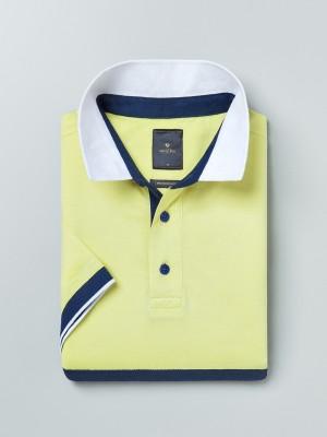 Invictus Solid Men Polo Neck Yellow T-Shirt at flipkart