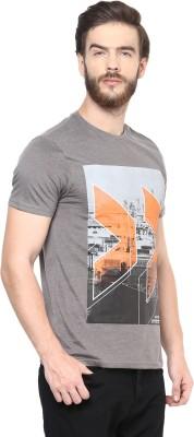 Celio Graphic Print Men's Round Neck Grey T-Shirt