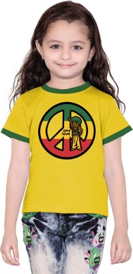 Tantra Boys Graphic Print Cotton T Shirt(Yellow)