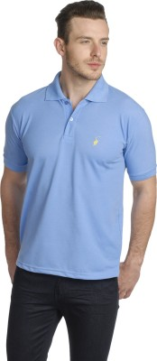Greenwich United Polo Club Solid Men's Polo Neck Blue T-Shirt