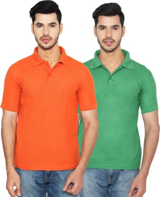 fd6934a6a9b5 55% OFF on Rock Hudson Solid Men s Polo Neck Multicolor T-Shirt(Pack of 2)  on Flipkart
