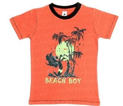 Bio Kid Girls Printed T Shirt(Orange, Pack of 1)