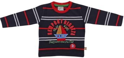 Mint Boys Graphic Print T Shirt(Dark Blue, Pack of 1)