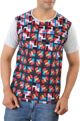 Mabyn Printed Men's Round Neck Multicolor T-Shirt