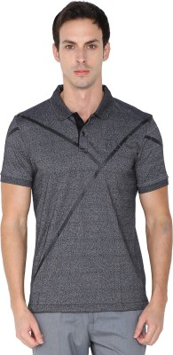 Arrow New York Solid Men's Polo Neck Grey T-Shirt