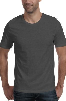 Moody's Kitchen Solid Men's Round Neck Black T-Shirt