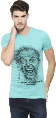 A1 Tees Printed Men's V-neck Blue T-Shirt